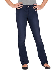 Girls' Slim Fit Boot Cut Denim Jean, 7-16 - RINSED INDIGO BLUE (RNB)