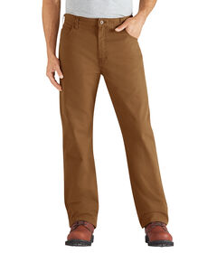 Regular Fit Straight Leg 6-Pocket Duck Jean - RINSED BROWN DUCK (RBD)