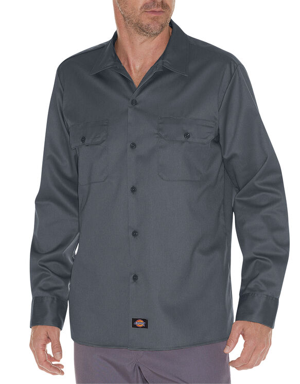 Slim Fit Long Sleeve Work Shirt
