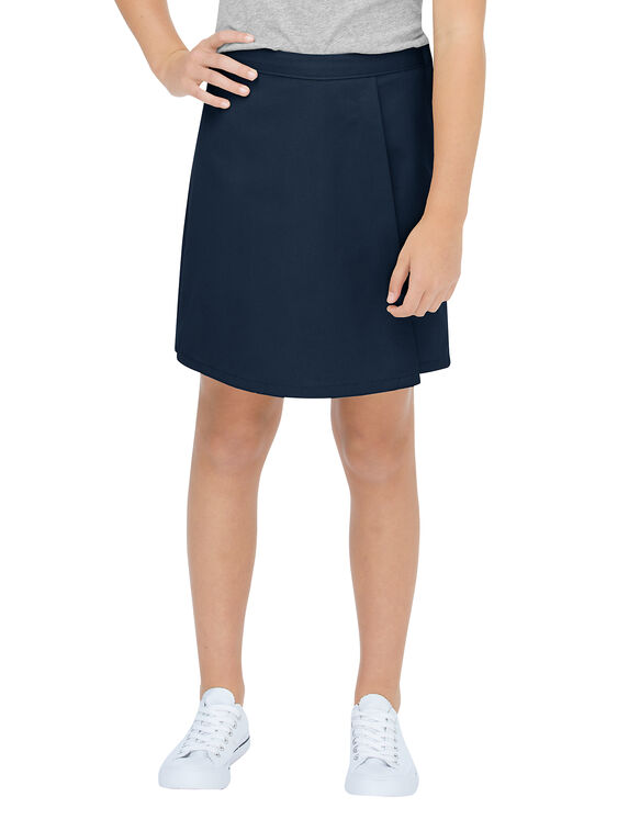 Girls' Faux Wrap Skort, 7-16 - DARK NAVY (DN)