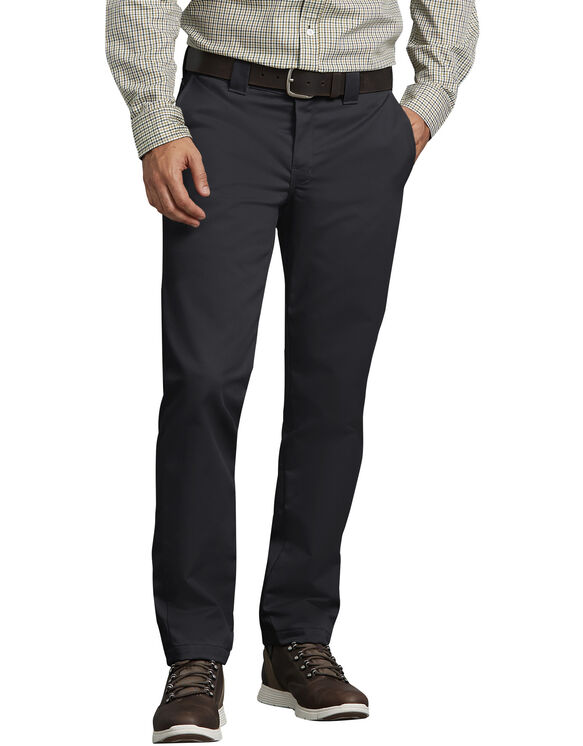 Slim Fit Tapered Leg Ring Spun Work Pant - BLACK (BK)