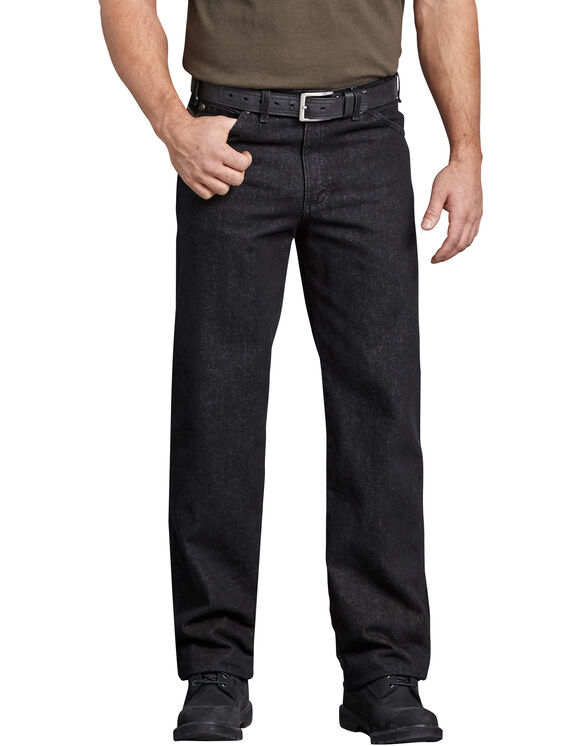 Industrial Regular Fit Denim Jean - RINSED BLACK (RBK)