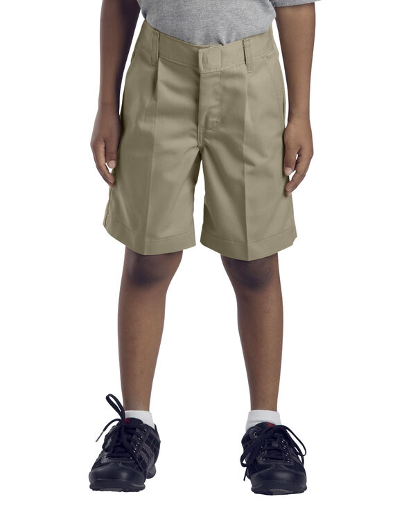 Boys' Pleated Front Short, 4-7 - KHAKI (KH)