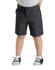 Girls' Flex Slim Fit Flat Front Short, 4-6x - BLACK (BK)