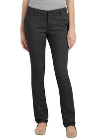 Juniors Schoolwear Classic Fit Straight Leg Stretch Twill Pant - BLACK (BK)