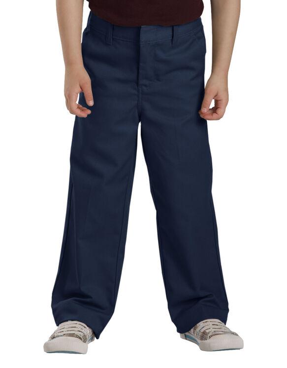 Girls'  Flat Front Pant, 4-6 - DARK NAVY (DN)