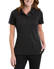 Women's Industrial Performance Color Block Polo - BLACK/CHARCOAL (BKCH)