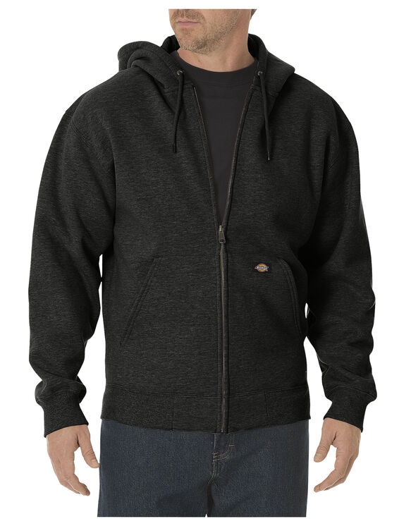 Heavyweight Fleece Full Zip Hoodie - BLACK (BK)
