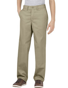 Boys' Flex Classic Fit Straight Leg Ultimate Khaki Pant, 8-20 Husky - DESERT SAND (DS)
