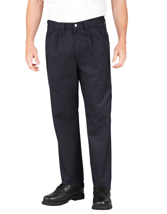 Industrial Pleated Front Comfort Waist Pant - BLACK (BK)