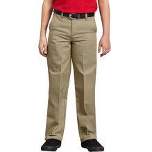 Boys' Classic Fit Straight Leg Flat Front Pant, 4-7 - KHAKI (KH)