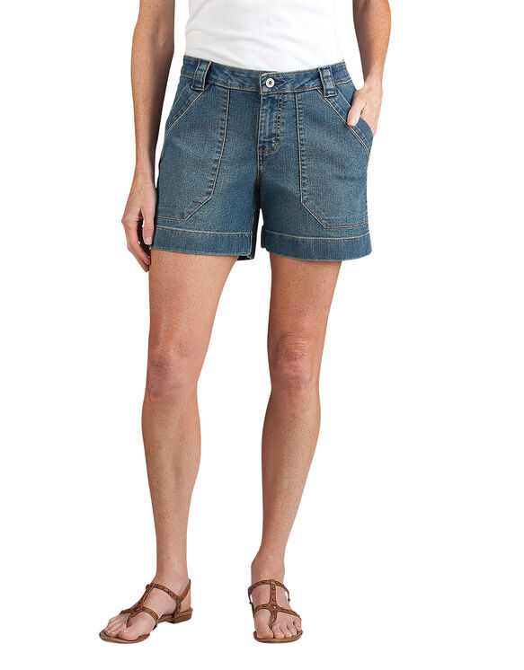 "Women's Relaxed Fit 5"" Stretch Denim Utility Short"