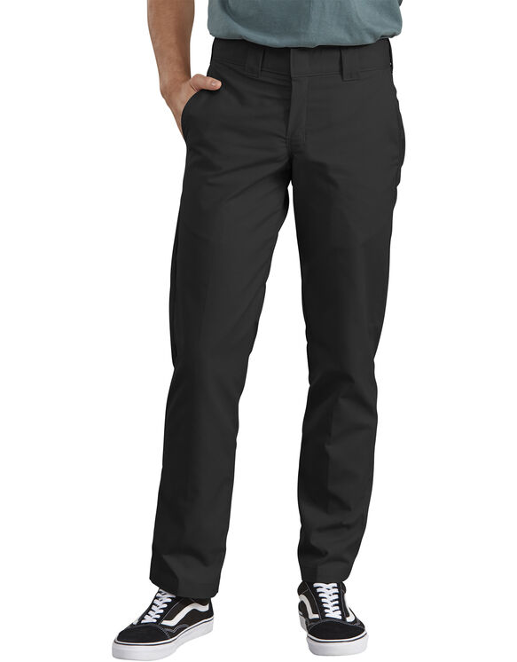 Slim Straight Fit Poplin Work Pant - BLACK (BK)