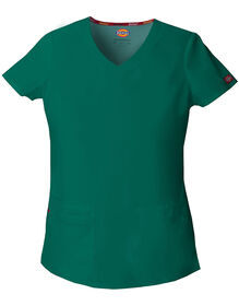 Women's EDS V-Neck Scrub Top - HUNTER-LICENSEE (HTR)