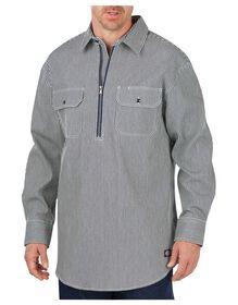 Long Sleeve Half Zip Logger Shirt - HICKORY STRIPE (HS)