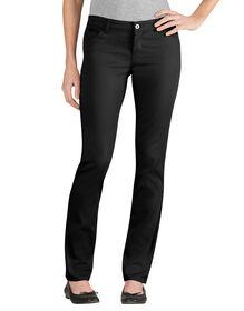 Juniors' Skinny Fit Straight Leg 5-Pocket Stretch Twill Pant