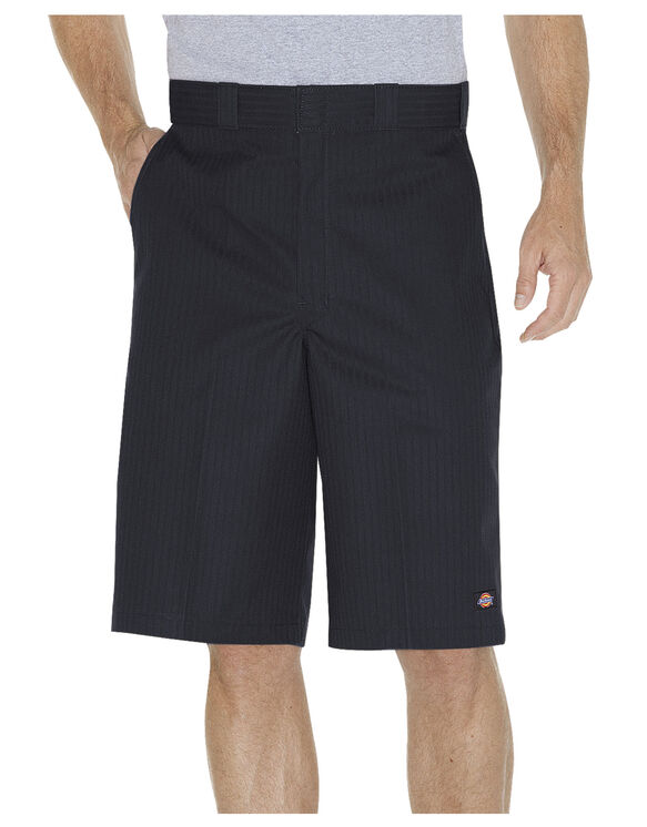 "13"" Twill Stripe Work Short - BLACK (BK)"