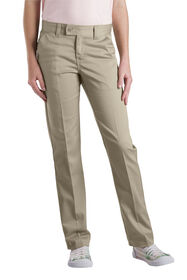 Girls' Slim Fit Straight Leg Stretch Twill Pant, 7-20 - DESERT SAND (DS)