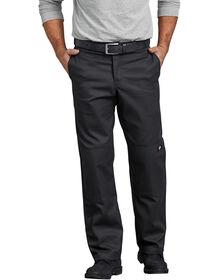 Flex Regular Straight Fit Double Knee Work Pant - BLACK (BK)