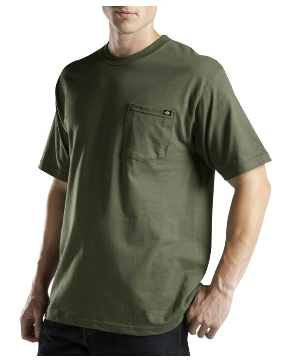 Short Sleeve Pocket Tee with Wicking - MOSS GREEN (MS)