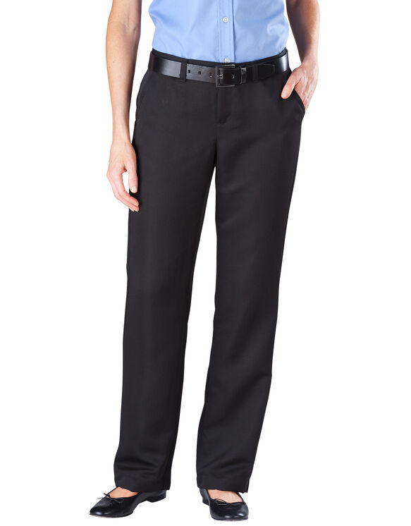 Women's Relaxed Straight Micro Denier Executive Pant - BLACK (BK)