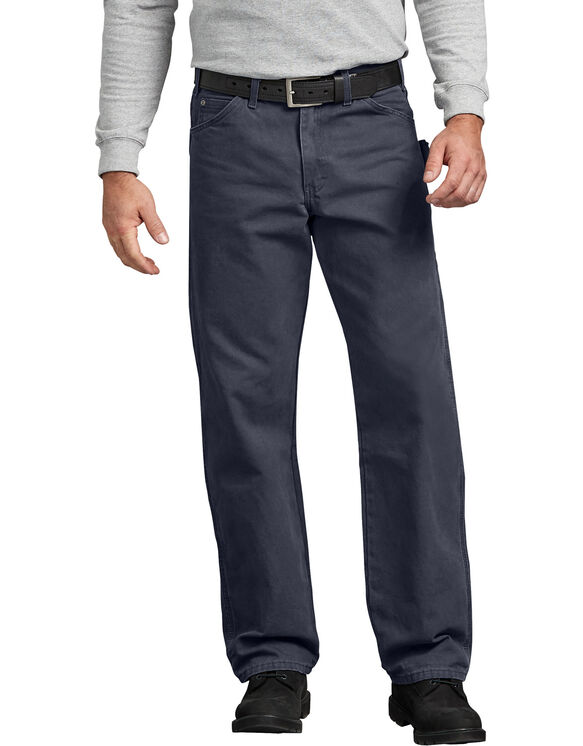 Relaxed Fit Straight Leg Sanded Duck Carpenter Jean - RINSED DIESEL GRAY (RYG)
