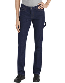 Women's Relaxed Fit Industrial Carpenter Denim Jean - RINSED INDIGO BLUE (RNB)