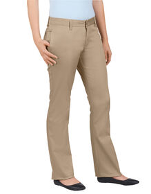 Dickies Girl Juniors Original Fit Lowrider Straight Leg Pant - KHAKI-LICENSEE (KHA)