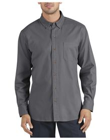 Long Sleeve Button-Down Twill Shirt