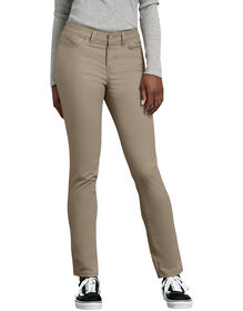 Women's Slim Fit Skinny Leg 5-Pocket Stretch Twill Pant - DESERT SAND (DS)
