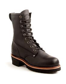 Men's Chaser Steel Toe Work Boots - Black (FBK) - Licensee (FBK)